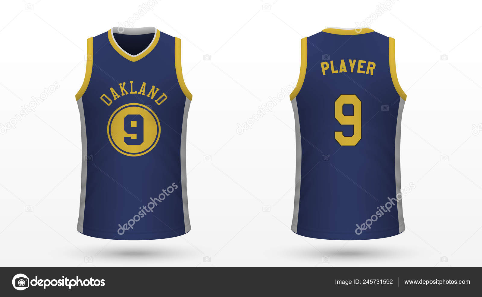 sports shoes 3e29f 1ae91 Realistic Sport Shirt Golden State Warriors Jersey Template ...