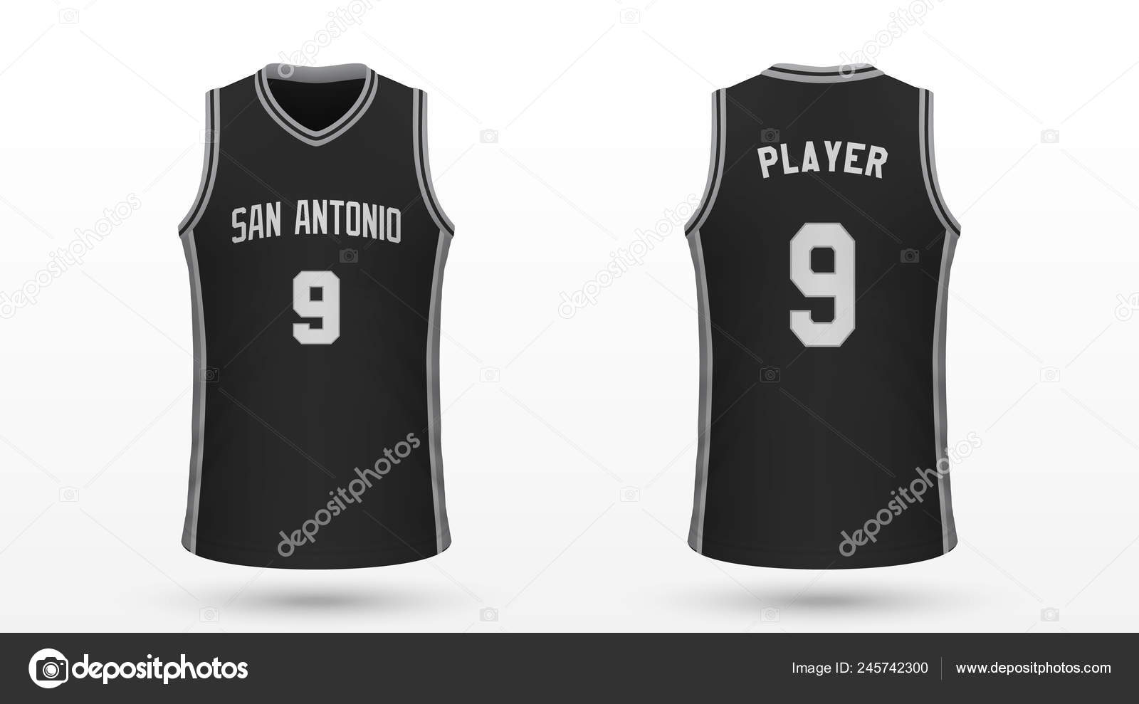 new concept 387c7 b38f4 Realistic Sport Shirt San Antonio Spurs Jersey Template ...