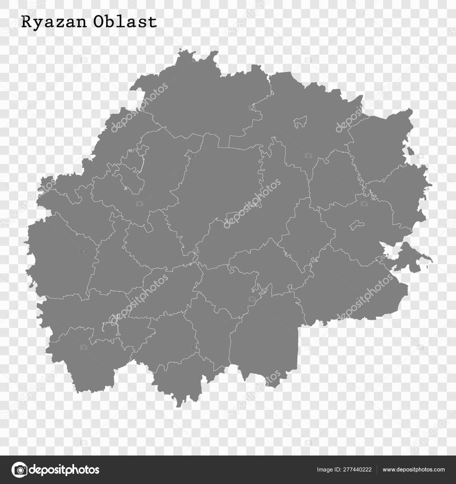 Рязанская область карта картинка