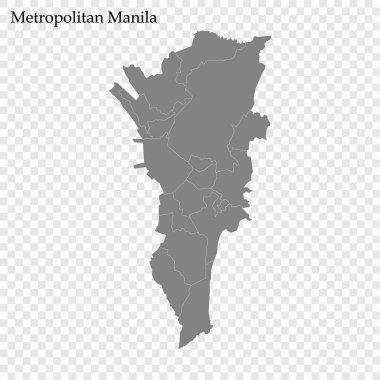 High Quality map of region of Philippines