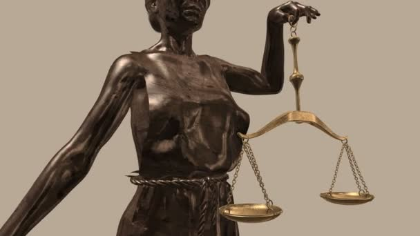 The Statue of Justice - lady justice or Iustitia the Roman goddess of Justice