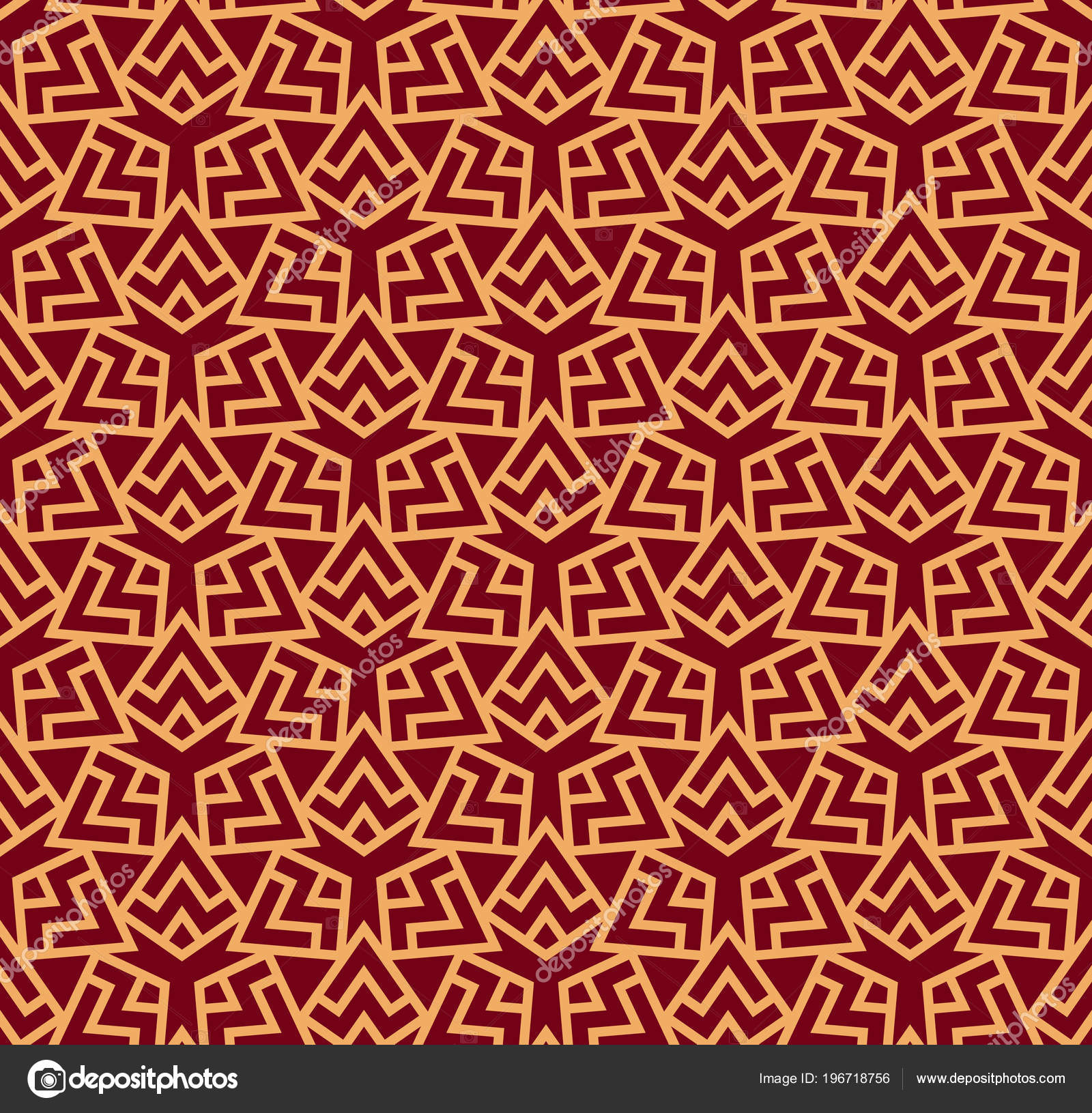 Vector Seamless Pattern Modern Stylish Abstract Texture Repeating Geometric Tiles