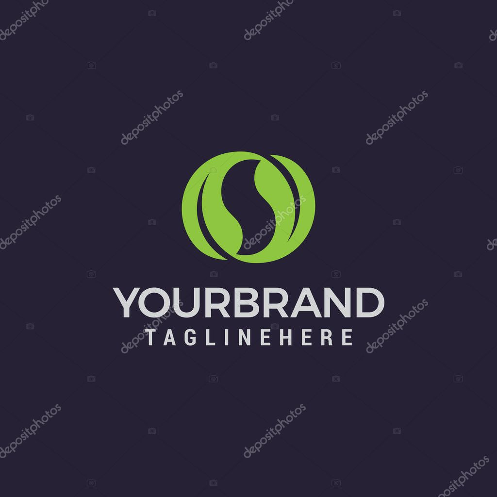 natural leaves letter s logo