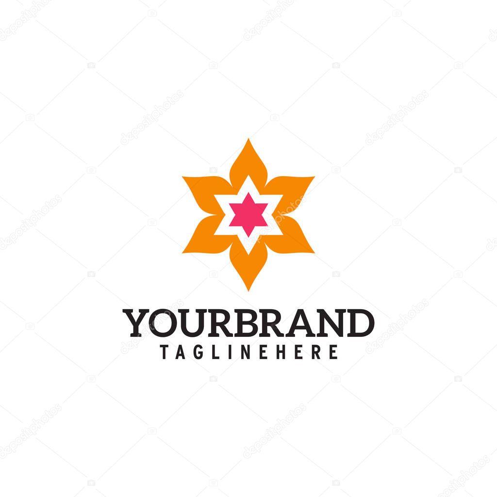 flower star logo design