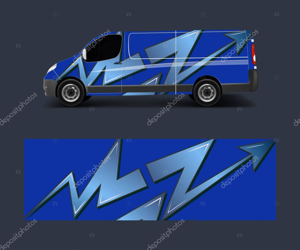 Graphic Abstract Wave Designs For Wrap Vehicle Race Car Branding Car Pick Up Truck And Cargo Van Car Wrap Design Vector Premium Vector In Adobe Illustrator Ai Ai Format