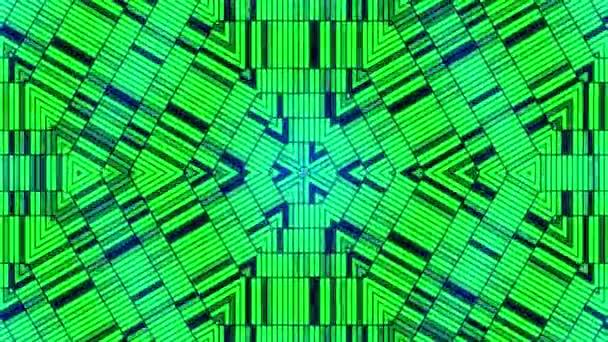 Fraktální modré kaleidoskopický pozadí. Pohyb v pozadí s fractal design. Disco spektrum světla koncert bodové žárovky