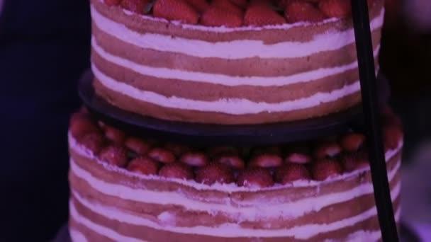 Detail svatební dort obrábění novomanželé svatební dort