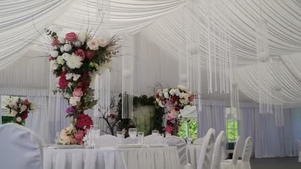 Interior Of A Wedding Hall Decoration Ready For Guestsautiful