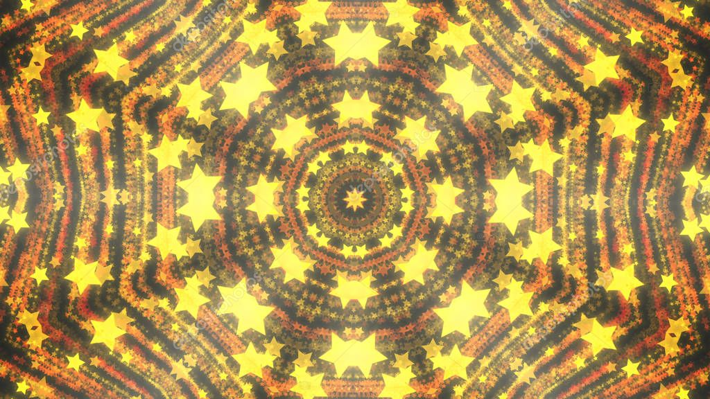 Abstract kaleidoscope background with bright details and elements