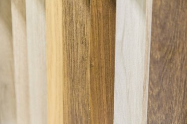 Background of panels of different colors, panels of wood.