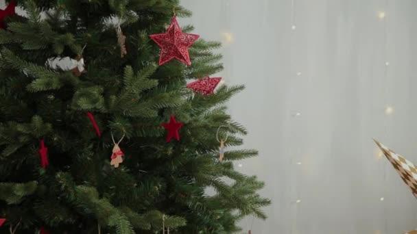 Very beautiful Christmas tree with toys.