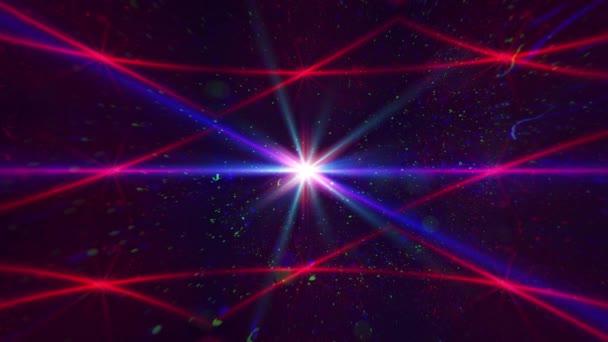 Anamorphotische Blendung Linse Hintergrund. 4 k video-footage