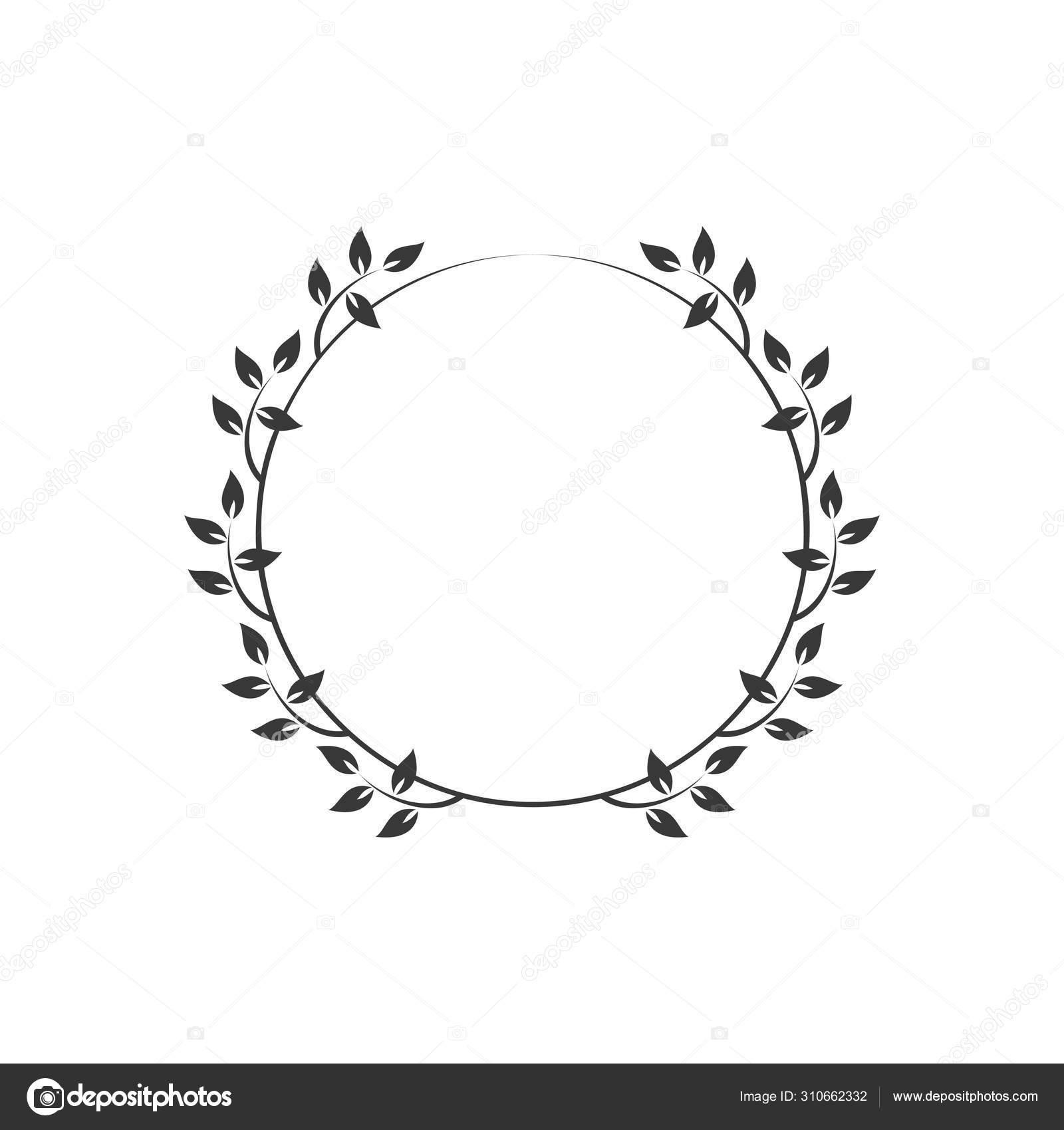 Vintage Floral Frames Black Decorative Circular Ivy Wreath Vector Illustration Vector Image By C Imaagio Vector Stock 310662332