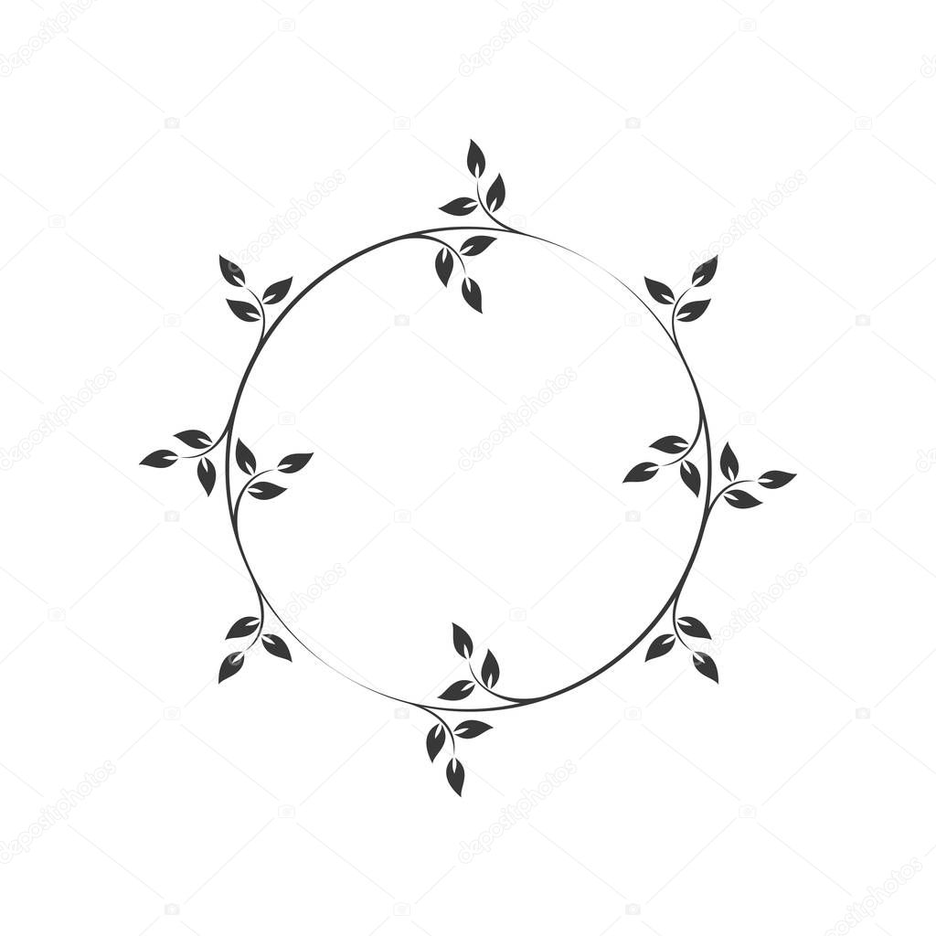 Vintage Floral Round Frames Black Decorative Circular Ivy Wreath Vector Illustration Premium Vector In Adobe Illustrator Ai Ai Format Encapsulated Postscript Eps Eps Format