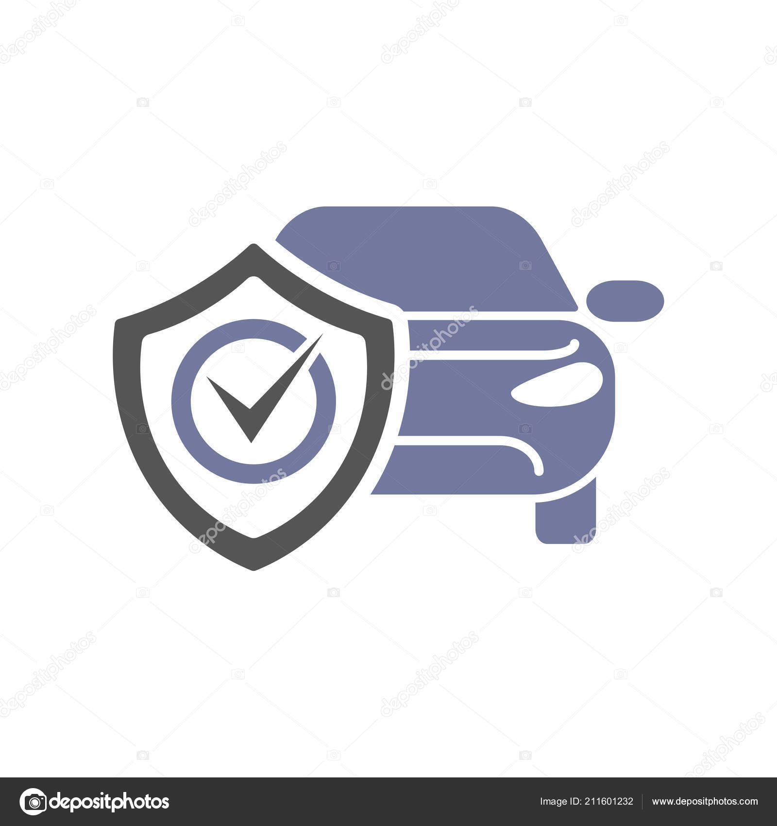 Car Repair Insurance >> Safety Insurance Car Isolated Icon On White Background