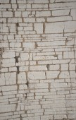 Fotografia Primo piano di priorità bassa grungy di sfaldamento bianco vernice della sbucciatura su sfondo di tavole di legno