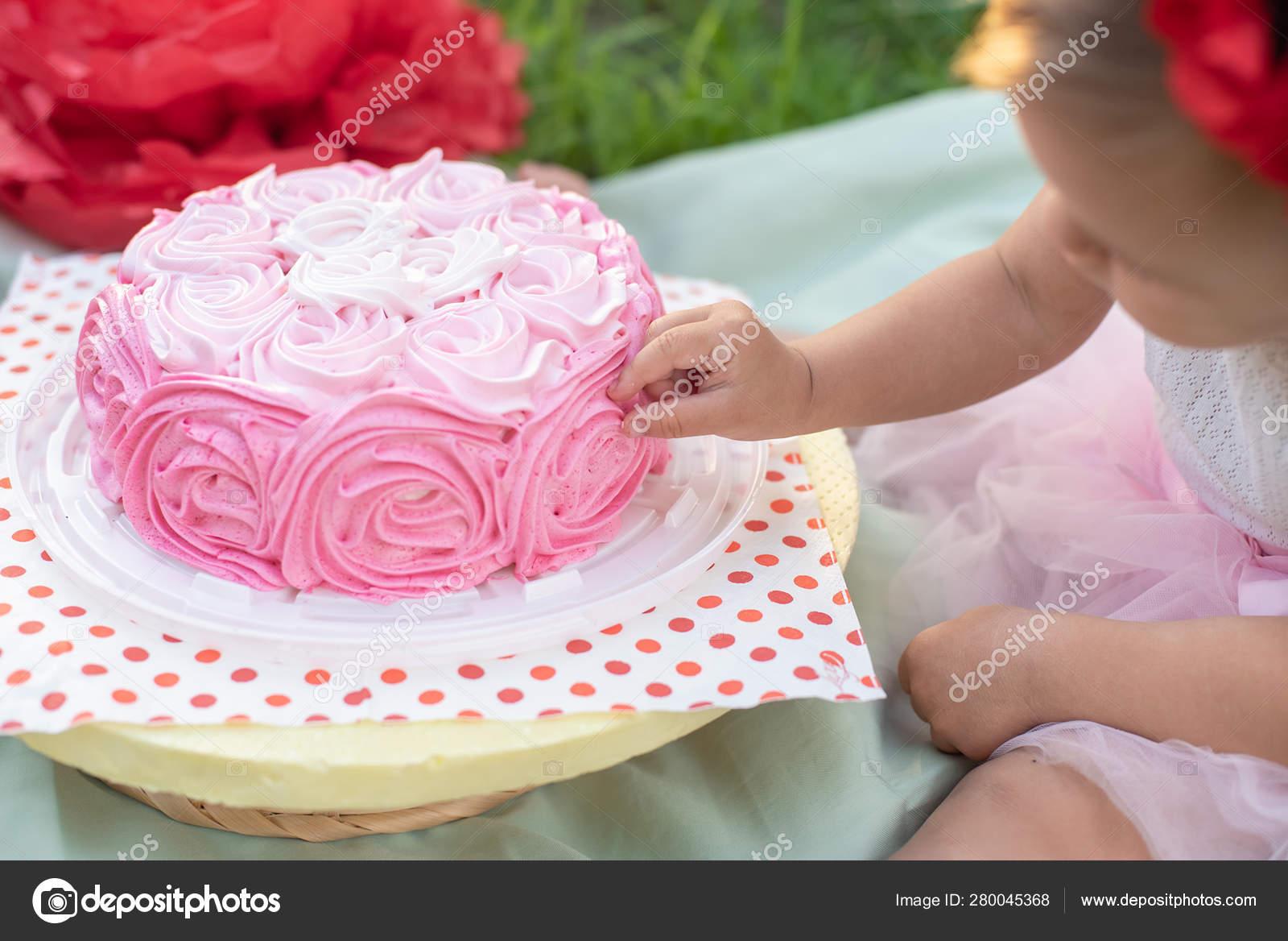 Amazing Two Years Old Girl Sitting Celebration Decorations Birthday Cake Funny Birthday Cards Online Hetedamsfinfo
