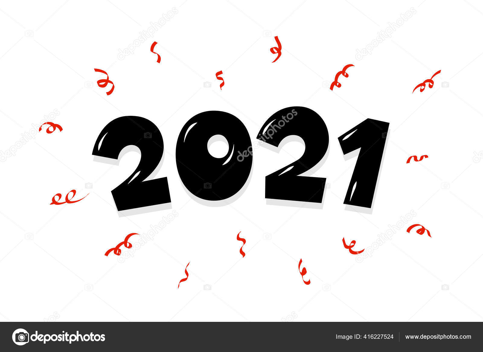 2021 cartoon hand drawn comic text lettering number with confetti happy new year and merry christmas holiday greeting card design xmas vector illustration on white background stock vector c azatvaleev 416227524 depositphotos