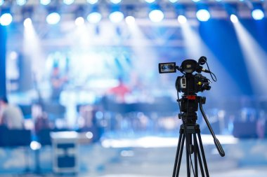 Tv camera in concert hall