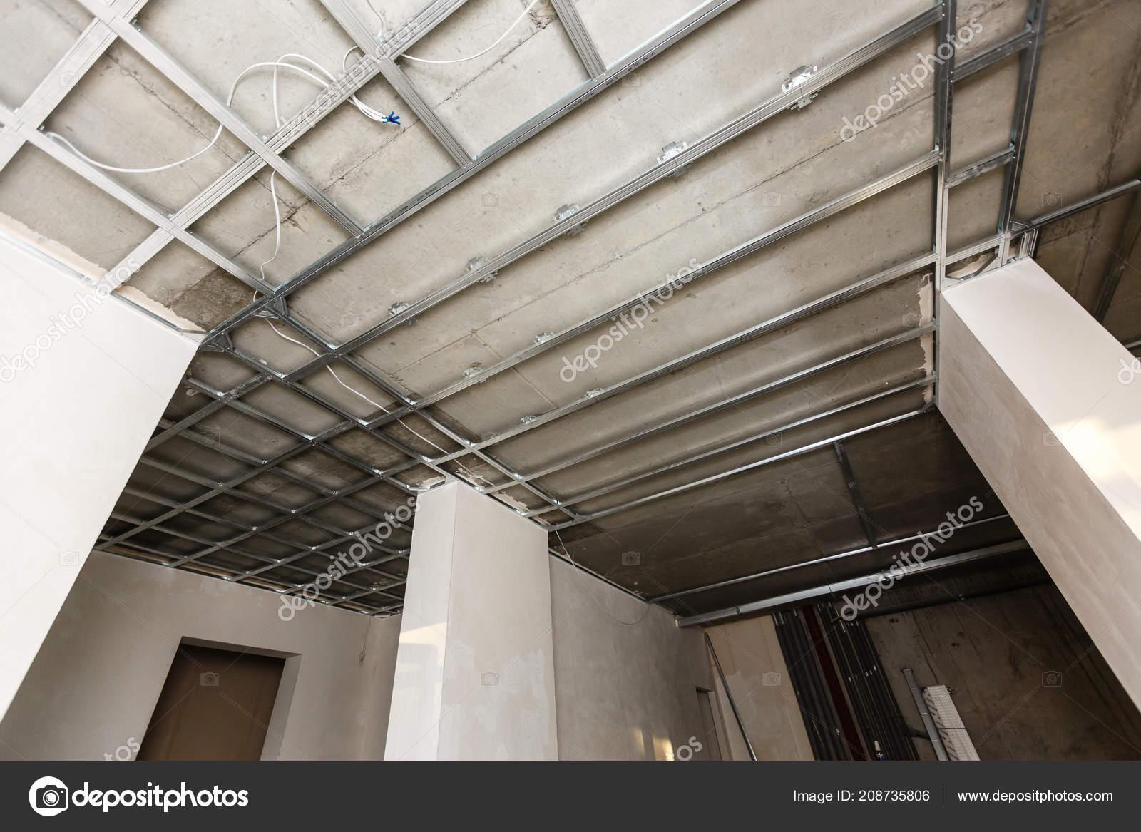 Installer Une Ossature Métallique Pour Plafond Conseil Plâtre Maison ...