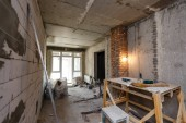 Fotografie Construction office repair, interior design