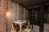 Fotografie Materiál na opravy v bytě probíhá výstavba, rekonstrukce, přestavby a renovace. Provedení stěn ze sádrokartonu nebo sádrokarton