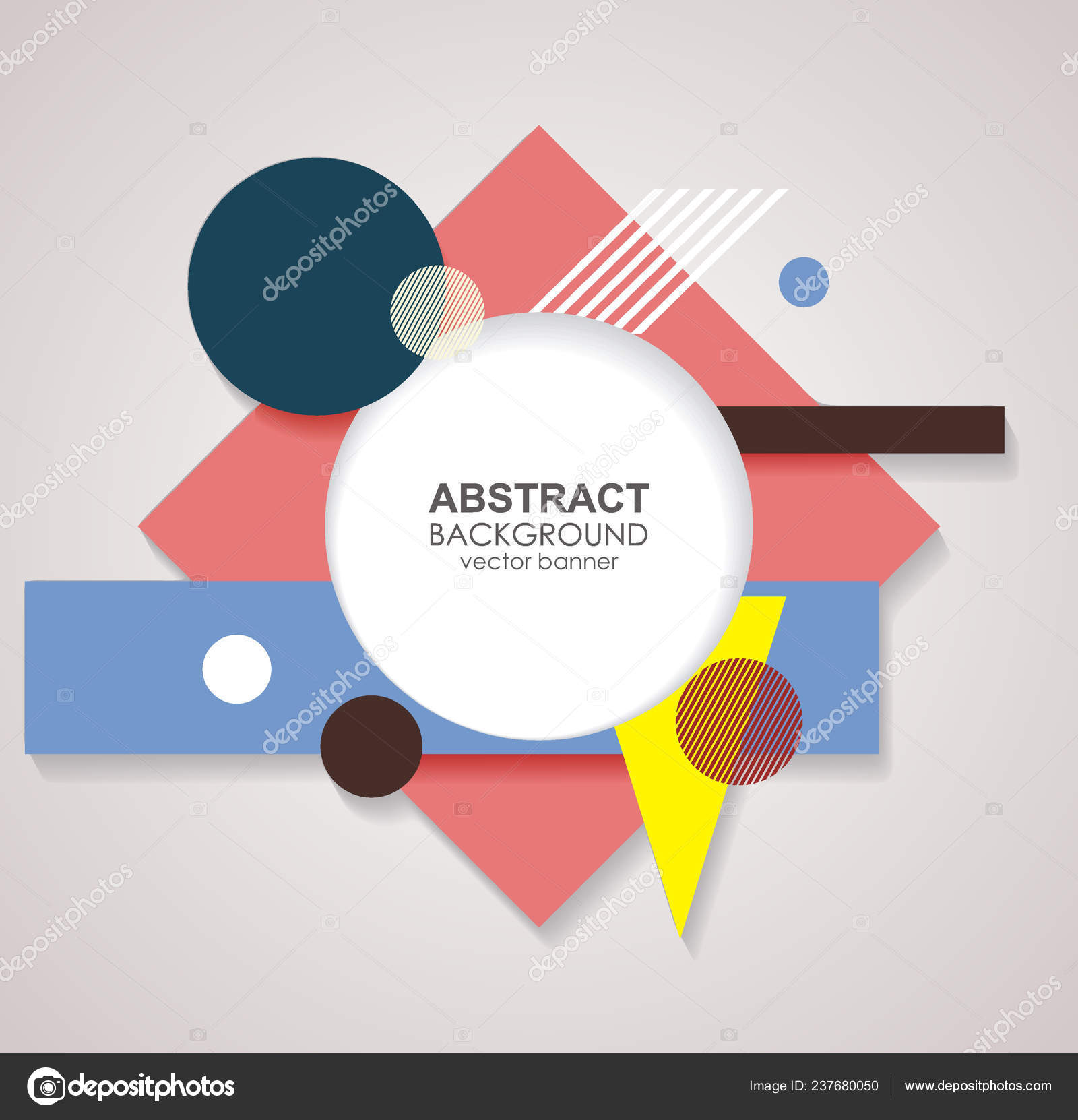 Abstract Geometric Shapes Vector Background — Stock Vector