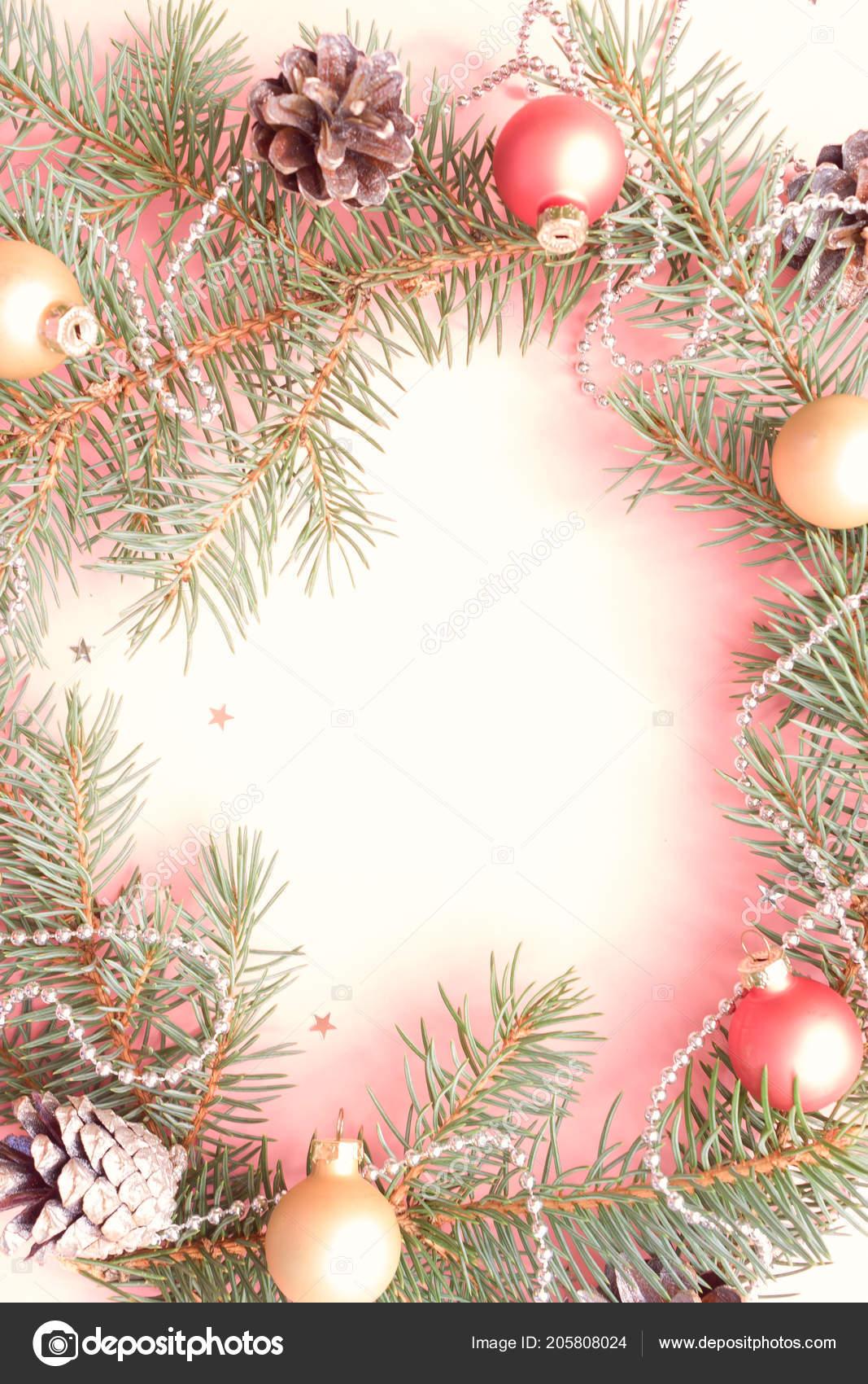 Frohe Weihnachten Rahmen.Frohe Weihnachten Und Glückliches Neues Jahr Rahmen Festliche