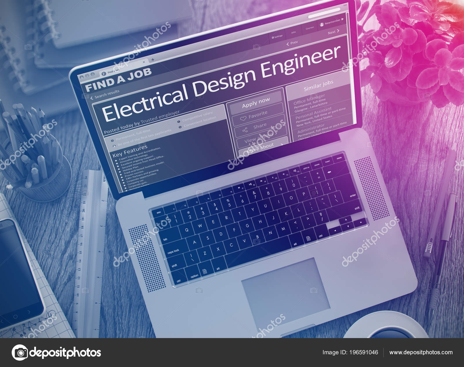 We Hiring Electrical Design Engineer  3D  — Stock Photo