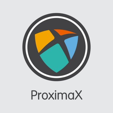 XPX - Proximax. The Market Logo of Money or Market Emblem.