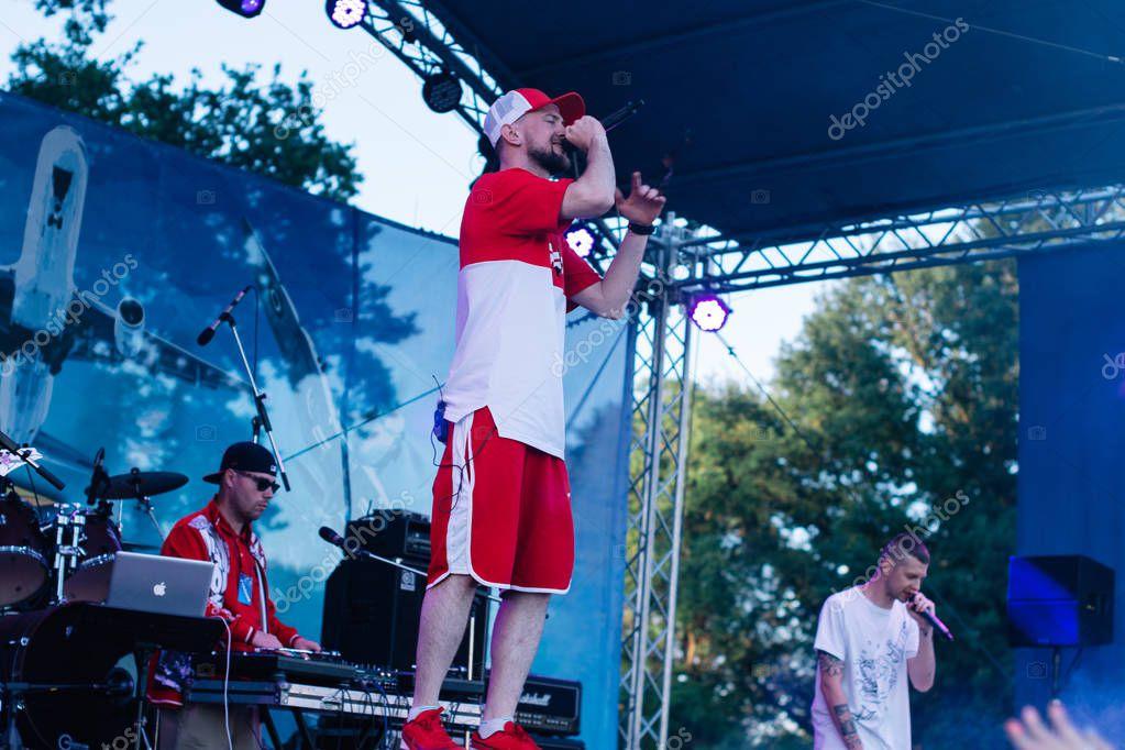 Concert of the Ukrainian rap artist Yarmak May 27, 2018 at the festival in Cherkassy, Ukraine
