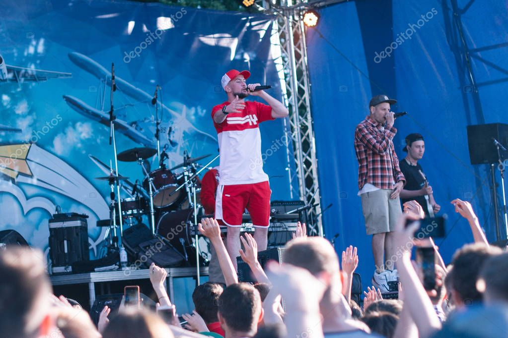 Concert of the Ukrainian rap artist Yarmak May 27, 2018 at the festival in Cherkassy, Ukraine