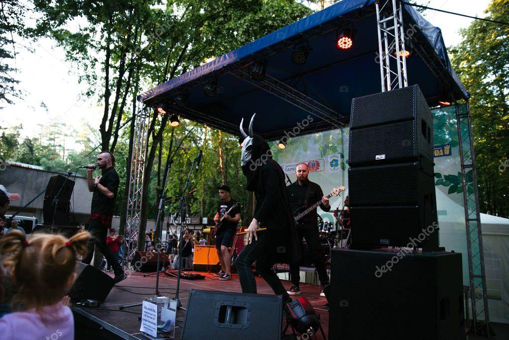 Performance of the rock group Chumatsky Shlyakh June 10, 2017 in Cherkassy, Ukraine