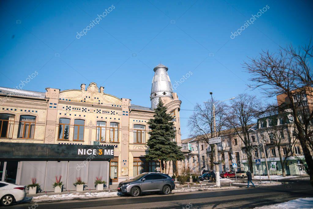 City March landscape. Cherkassy, Ukraine, March 24, 2018
