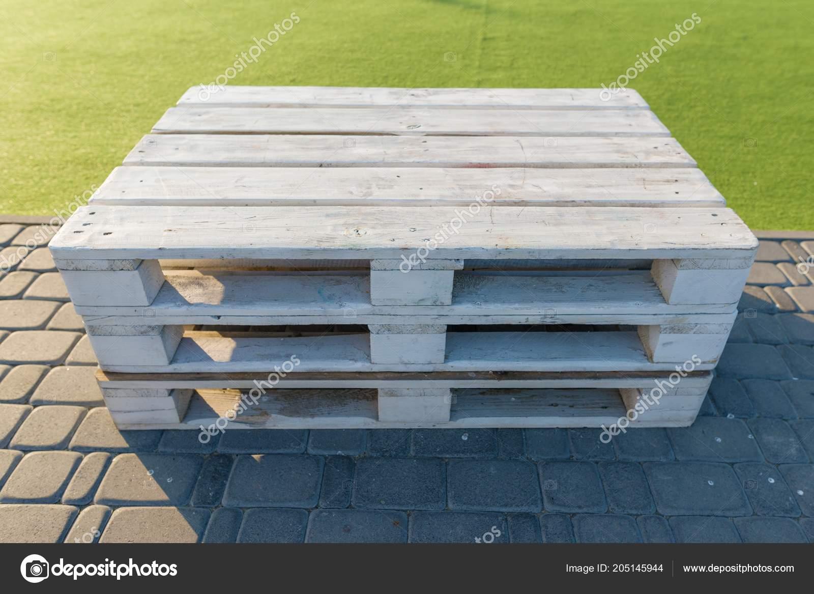 Modish Drewniane Meble Ogrodowe Nowoczesne Zmontowane Palet Pomalowane SO45
