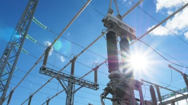 high voltage lines above electrical transformers