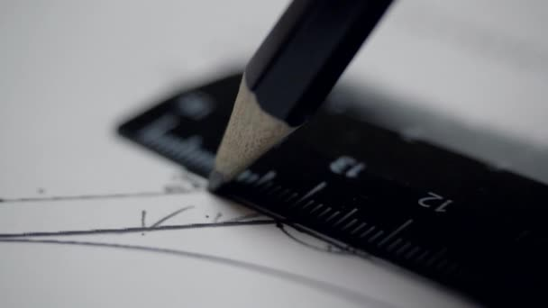 Zárja be a nézet Hasenøre-ceruza és vonalzó a rajz