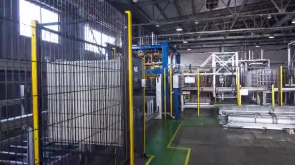 timelapse automated production line in factory workshop
