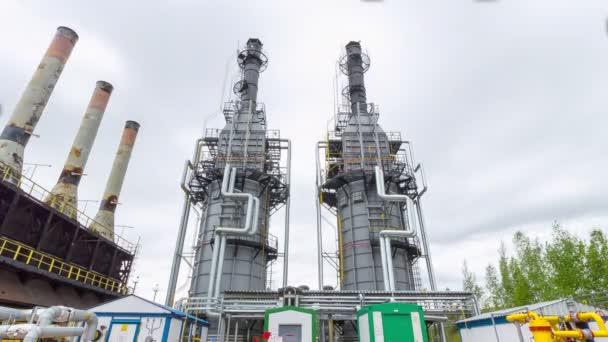 produkční věže s časovou docházky plynových a olejových rafinérií