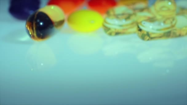 De focusing. Tablet and Pills, Medicament. Colorful pills