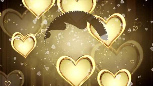 Lesklé srdce. Valentinky den. Pozadí se srdíčky