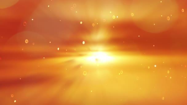 Festői naplementét. Részecske elborult háttér. Napkelte