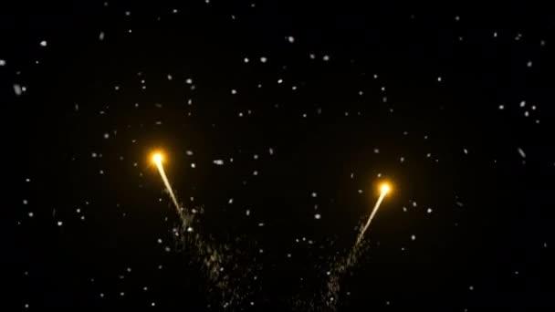Svátek šťastný nový rok s ohňostrojem