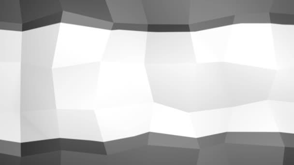 Geometrické černé a bílé pozadí v abstraktním dynamickém pohybu
