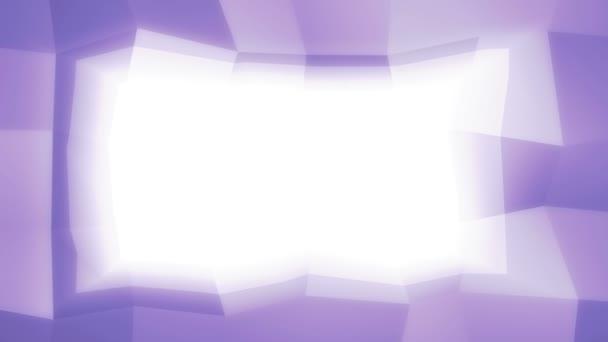 Lila absztrakt geometriai váz finom dinamikus mozgás, a fehér