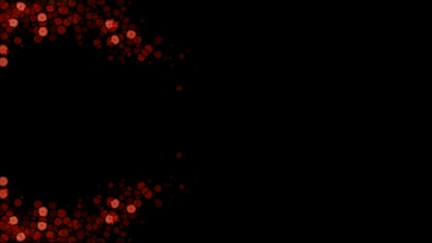 Červená zářící světla v abstraktní vlně, na černém pozadí
