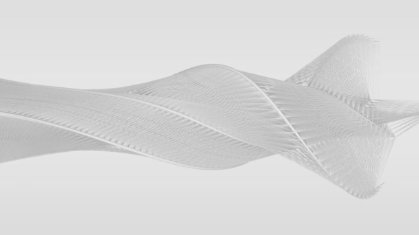 Flowing curved lines create abstract white shapes - seamless looping, on white