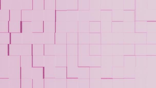 Minimalistický růžový podklad pohyblivých krychlí-plynulé opakování