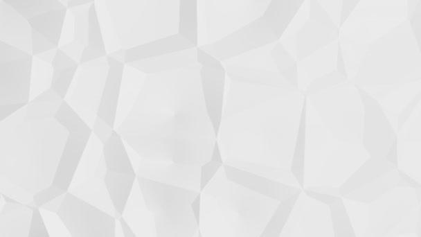 Abstraktní bílé pozadí velkých geometrických struktur v pohybu
