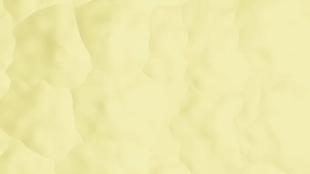 Yellow background with abstract surface waves, seamless looping